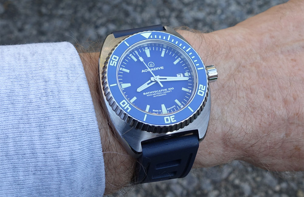 Aquadive Bathyscaphe 100 – Blue Dial